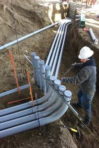 commercial electrical ground work